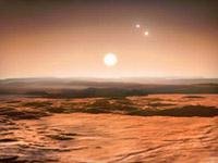 вид з поверхні екзопланети